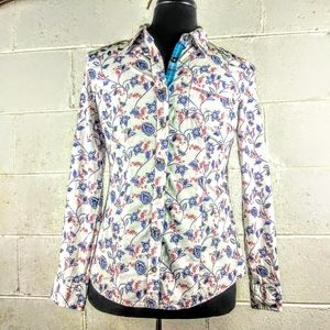 Natural Reflections western button shirt size M